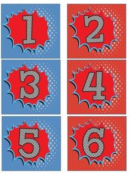 Superhero Calendar Set!