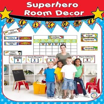 Classroom Decor ~ Room Theme ~ Superhero  {Editable}
