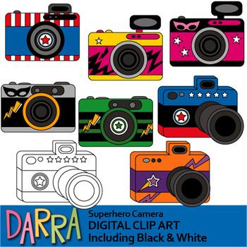 Superhero Camera Clip art