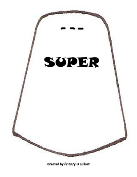Superhero Cape Writing Activity