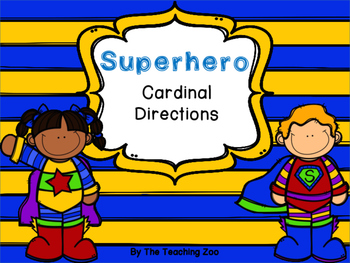 Superhero Cardinal Directions Signs