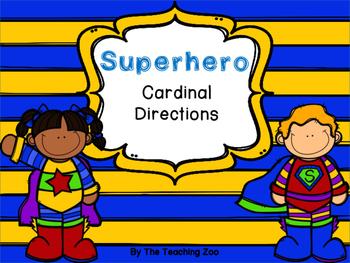 Superhero Cardinal Directions Signs