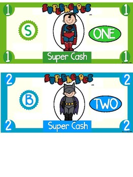 Superhero Cash ~ Incentive Dollars ~~ CUSTOMIZED