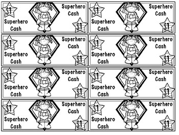 graphic relating to Printable Money for Classroom titled Superhero Revenue Printable Clroom Dollars Routines Incentive Pack