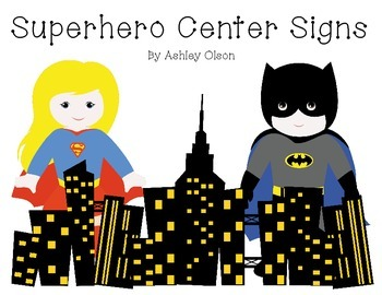 Superhero Center Signs