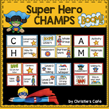 Superhero Champs Classroom Management Set
