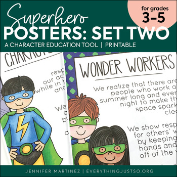 Superhero Character Education Posters - Set Two