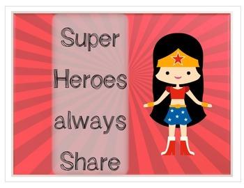 Superhero Character Posters