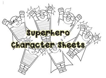 Superhero Character Sheets