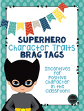Editable Superhero Character Traits Brag Tags