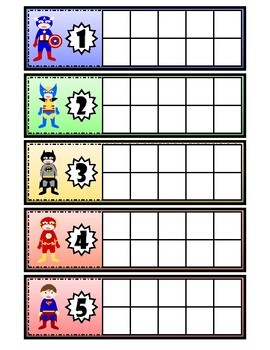Superhero Character Traits Cube Counting- FREE