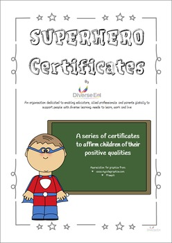Superhero Certificates - Character Building