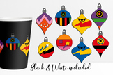 Superhero Christmas Ball Ornaments Clip Art