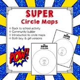 Superhero Circle Maps