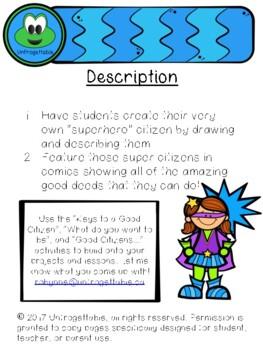 Superhero Citizens Comics and Writing