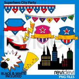 Superhero City Party clipart