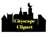 Superhero Cityscape Clipart