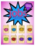 Superhero Classroom Job Chart with Headers and Description