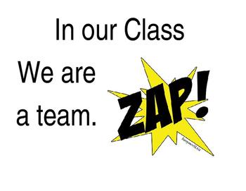 Superhero Class Motto