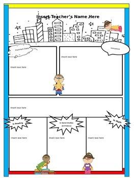 Superhero Class Newsletter