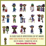 Superhero Class Rules Clip Art - Back to School Clipart No
