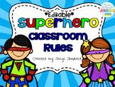 **Editable**Superhero Class Rules Poster