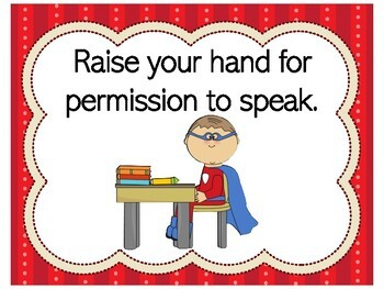 Superhero Class Rules | Superhero Rules | Superhero Classroom Rules
