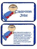 Superhero Class job Chart with editable template