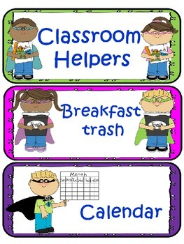 7. Classroom jobs chart for classroom helpers teaching teaching.