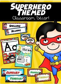 Superhero Classoom Decor Pack *Editable*