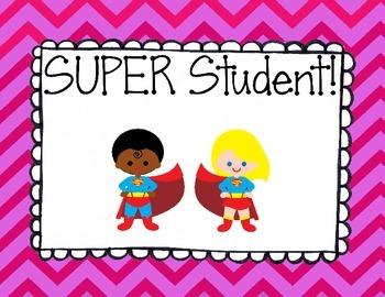 Superhero Classroom Behavior Clip Chart