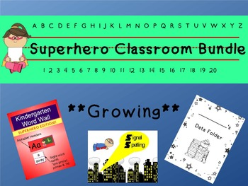 Superhero Classroom Bundle **Growing**