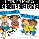 Superhero Center Signs - Superhero Classroom Decor