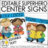 Superhero Center Signs - Superhero Classroom Decor