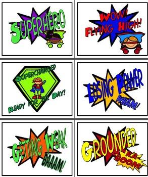 Superhero Classroom Conduct Bundle