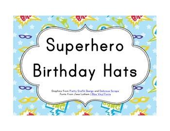 Superhero Classroom Décor | Birthday Hats