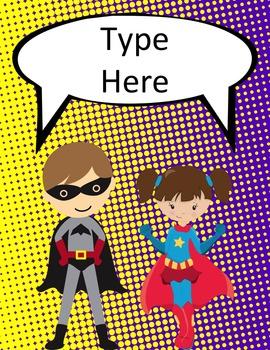 Superhero Classroom Décor | Editable Binder Covers