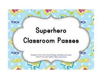 Superhero Classroom Décor | Editable Classroom Passes