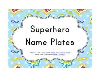 Superhero Classroom Décor | Editable Desk Plates