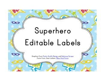 Superhero Classroom Décor | Editable Labels