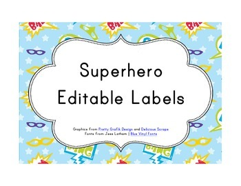 Superhero Classroom Décor | Editable Labels