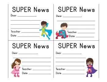 Superhero Classroom Décor | Editable Super News Notes