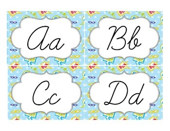 Superhero Classroom Décor | Editable Word Wall Labels