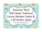 Superhero Classroom Décor | Editable Word Wall Labels