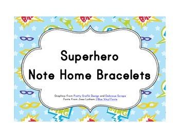 Superhero Classroom Décor | Note Bracelets