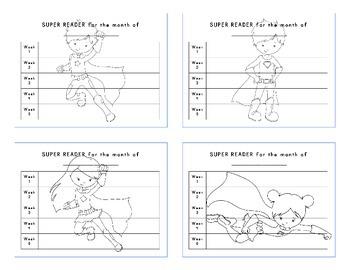 Superhero Classroom Décor   Super Reader Charts