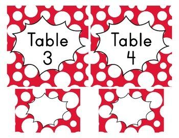 Superhero Classroom Décor | Table Signs