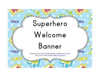 Superhero Classroom Décor | Welcome Banner