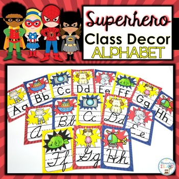Superhero Classroom Decor Alphabet Posters
