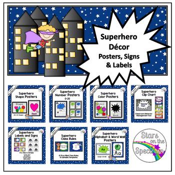Superhero Classroom Decor Basic Bundle